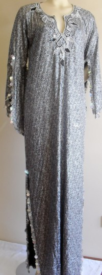 b7d34106c6609 Saidi Sparkle Saidi Dress. Split sleeves finished with gold beads and gold  plastic payets also features underarm vents. Neck detailing beads and  sequins.