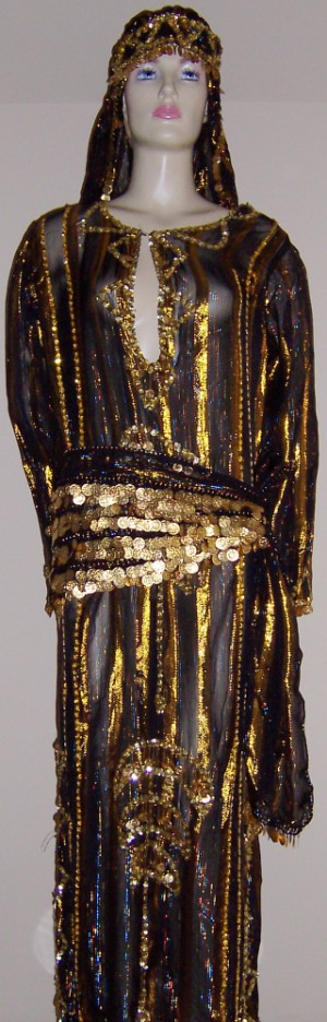 d1f26abb38d61 Culturally traditional dress. Perfect for Saiidi Dance. Baladi Dress.  Crescent moon detailed in sequins on the front and back of the dress. Thick  gold ...